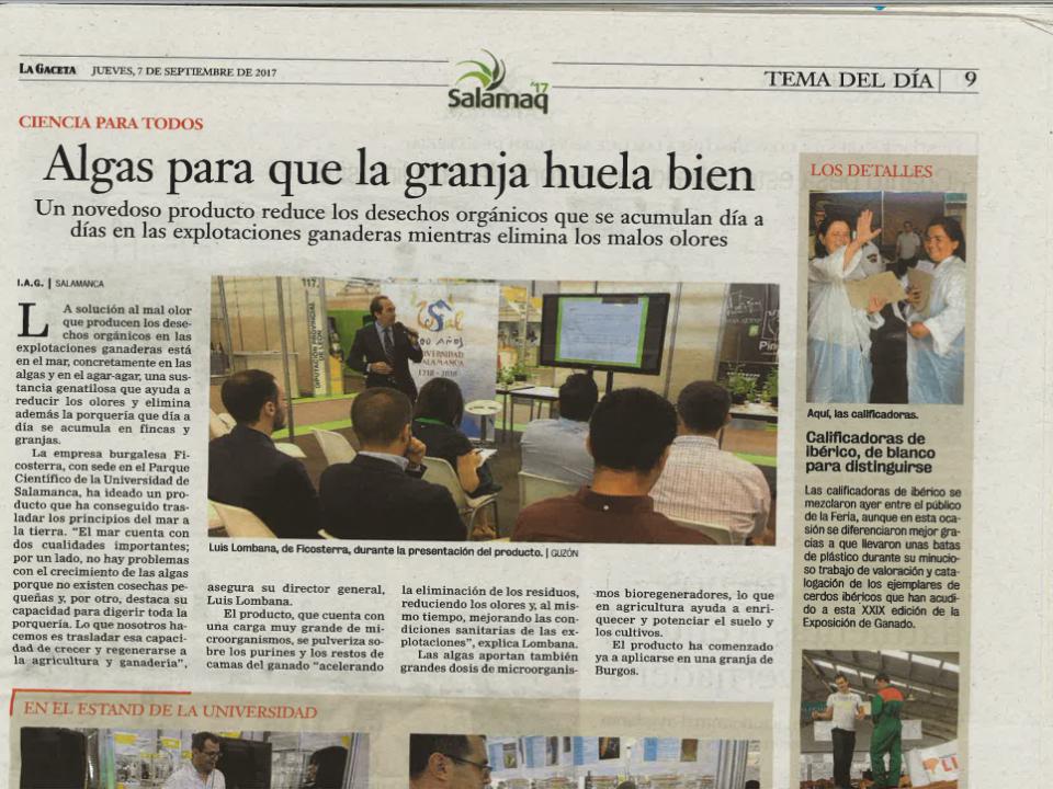 Ficosterra en el periódico
